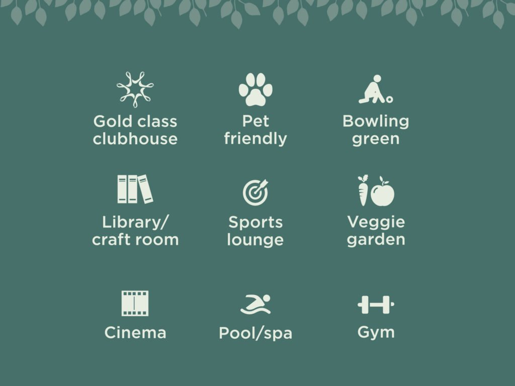 Freshwater by Ingenia Lifestyle - Gold class over 50s boutique lifestyle community living features