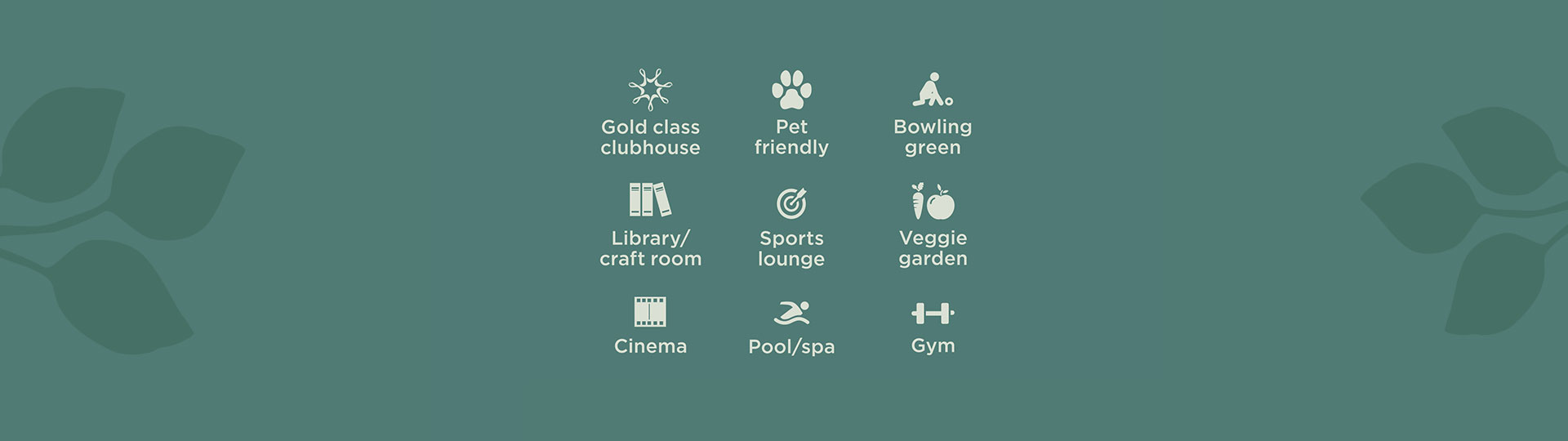 Freshwater community facilities including a bowling green, gym, pool and cinema.