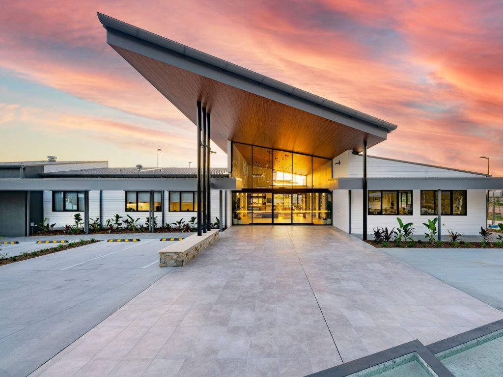 Freshwater by Ingenia Lifestyle over 50s lifestyle community living at Burpengary East Clubhouse Entry